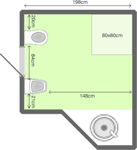 planimetria bagno
